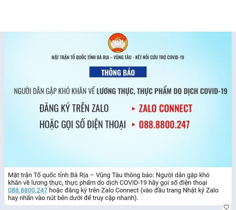 Bà Rịa - Vũng Tàu: Dân khó khăn về lương thực do COVID-19, gọi 088.8800.247   - ảnh 1