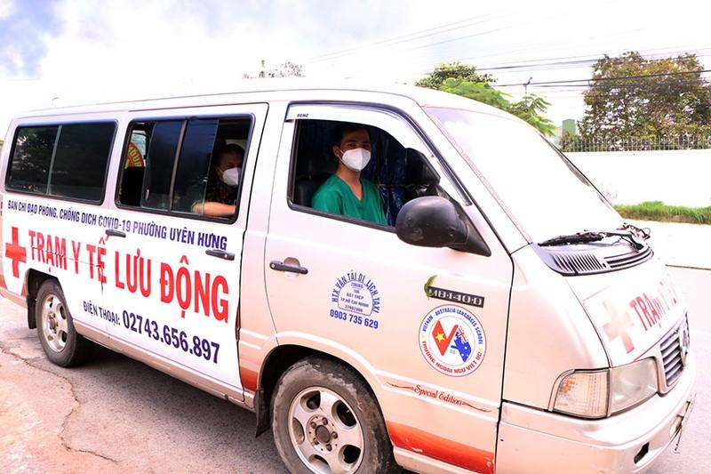 Trạm y tế lưu động ở Bình Dương: Dân cần là có mặt - ảnh 1
