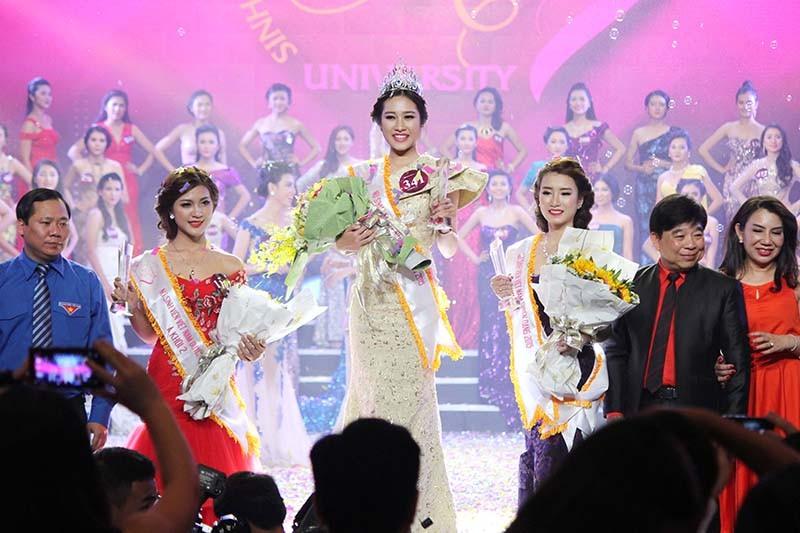 Đặng Mỹ Huyền đăng quang Hoa khôi Nữ sinh viên Việt Nam  - ảnh 6