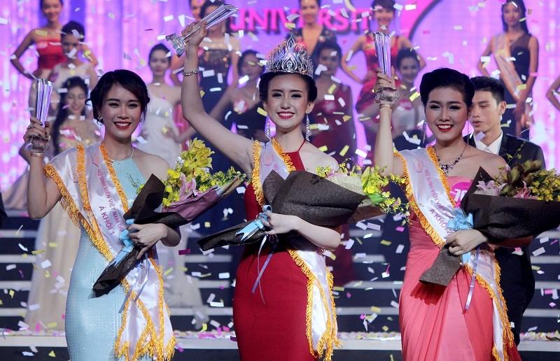 Đặng Thị Thu Hồng đoạt Nữ sinh viên VN duyên dáng 2016 - ảnh 1