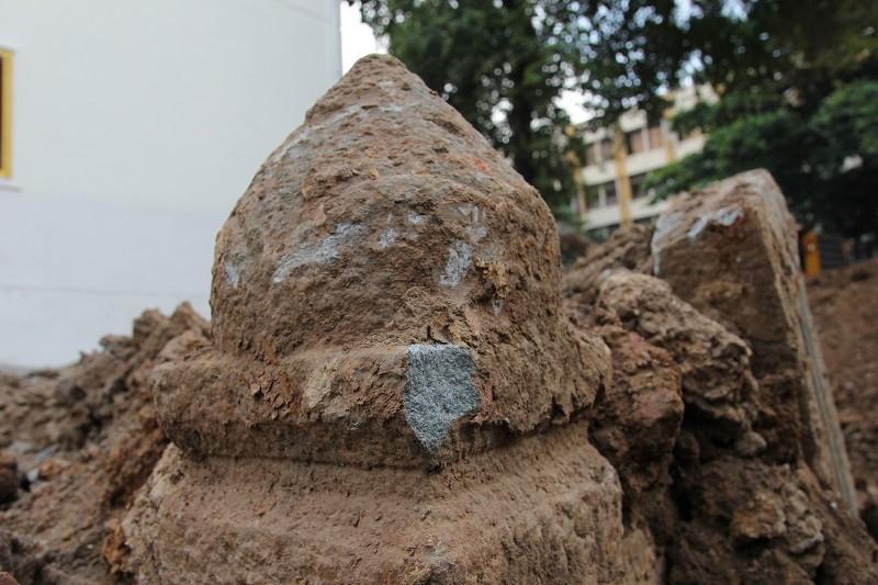 Cận cảnh mộ cổ được phát hiện trong bưu điện Phú Thọ - ảnh 4