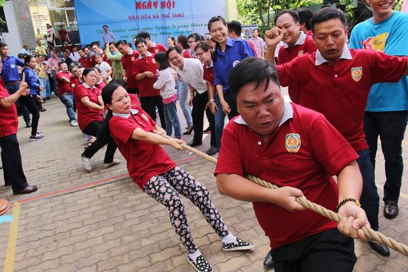 Cười tẹt ga ở ngày hội văn hóa thể thao Sở Tư pháp TP - ảnh 3