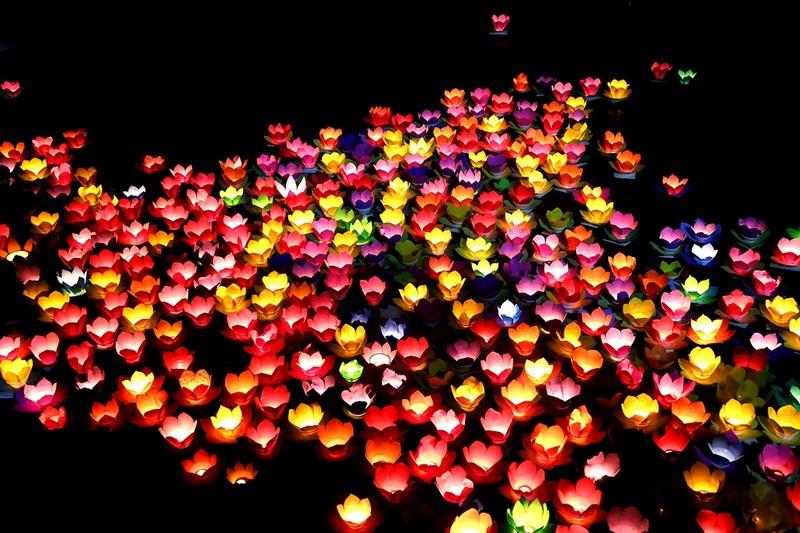 Biển người chen nhau thả hoa đăng Vu lan ở Sài Gòn - ảnh 10