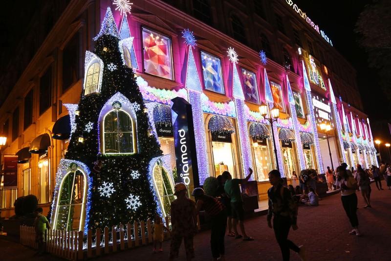 Người Sài Gòn rộn rã xuống phố đón Noel sớm - ảnh 1