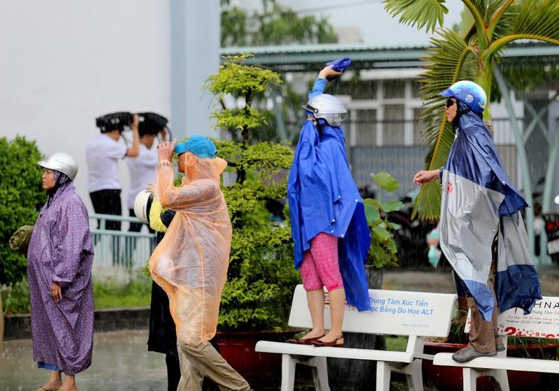Xúc động cảnh bố mẹ dầm mưa đón con sau giờ thi ở Sài Gòn - ảnh 5