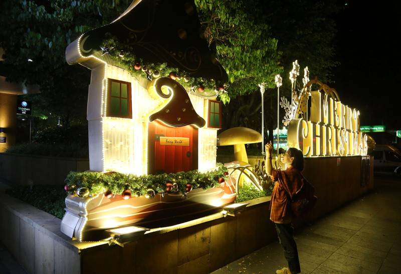 Dân Sài Gòn đổ về trung tâm vui đón Noel sớm - ảnh 15