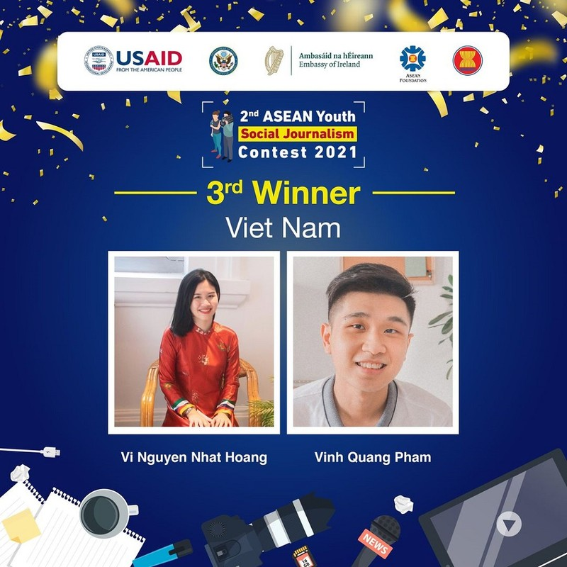 Sinh viên RMIT Việt Nam thắng giải cuộc thi Phóng viên trẻ khu vực ASEAN - ảnh 1