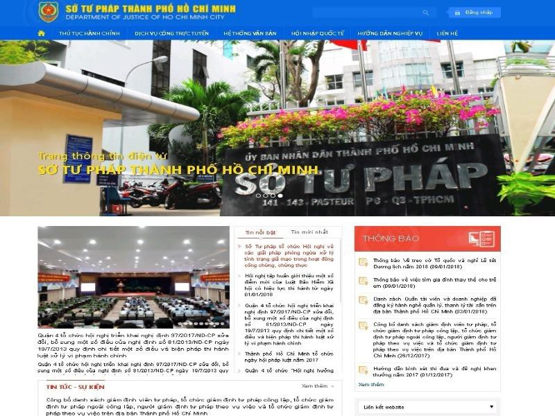 Sở Tư pháp TP.HCM ra mắt Website giao diện mới  - ảnh 1