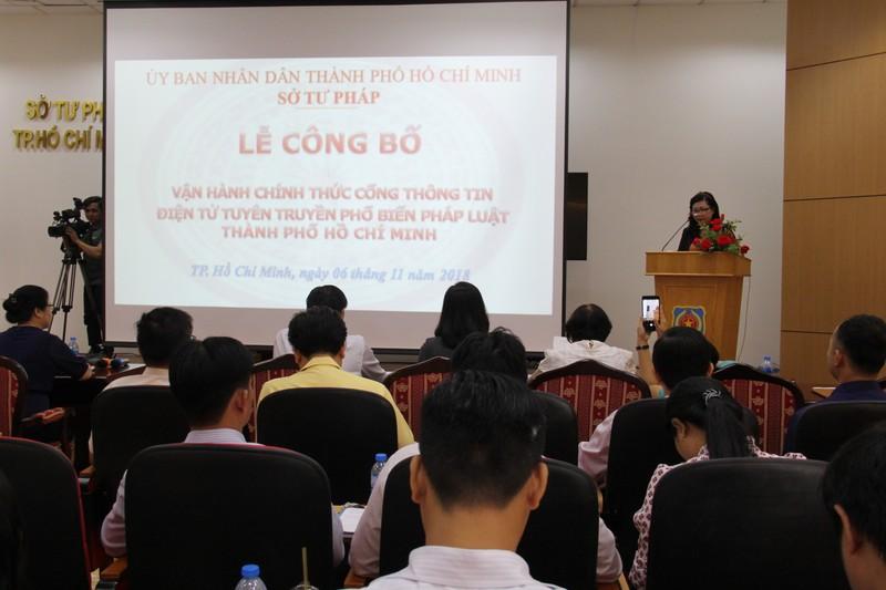 TP.HCM ra mắt kênh cung cấp thông tin pháp luật chính thức - ảnh 1