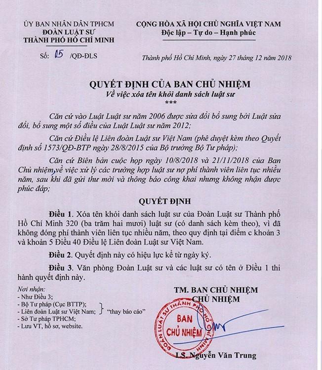 320 luật sư bị xóa tên khỏi danh sách đoàn luật sư TP.HCM - ảnh 1