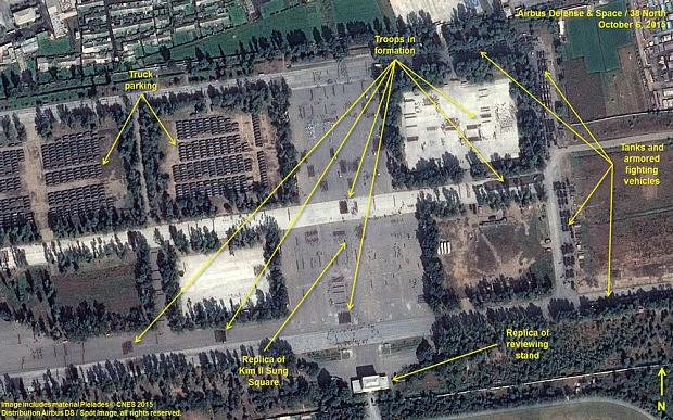 Ảnh vệ tinh 'soi' quy mô diễu binh rầm rộ của Triều Tiên - ảnh 1
