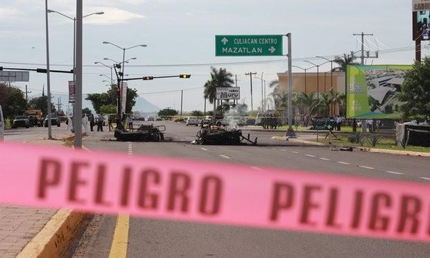 phục kích xe quân sự Mexico