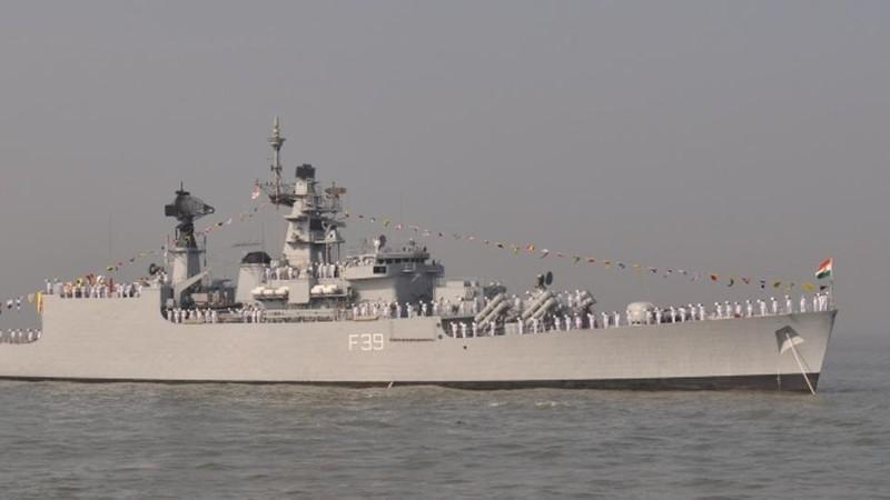 Tàu INS Betwa của Ấn Độ.