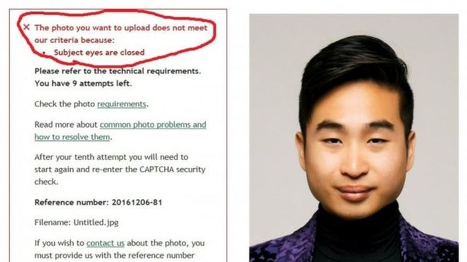 Bị từ chối nhận hồ sơ làm hộ chiếu vì… mắt hí