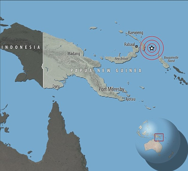 động đất 8,0 độ Richter ở Papua New Guinea