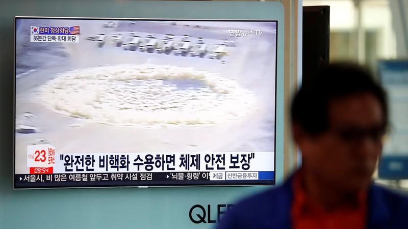 Triều Tiên đã cho nổ bãi thử hạt nhân trước mặt PV nước ngoài - ảnh 1