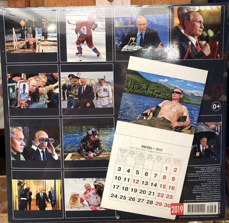 Bộ lịch in hình Tổng thống Putin 'cháy hàng' tại Nhật - ảnh 1