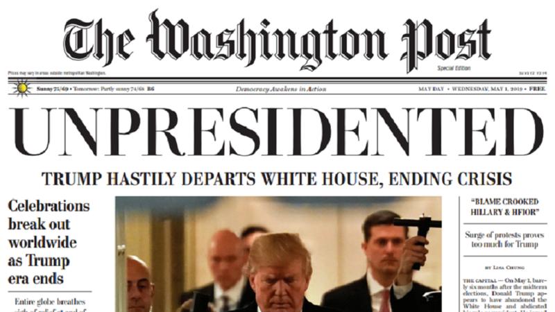 Tin 'ông Trump từ chức' làm náo loạn thủ đô Mỹ - ảnh 1
