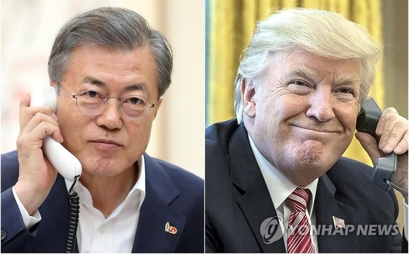 Ông Trump điện đàm với ông Moon sau thượng đỉnh ở Hà Nội - ảnh 1