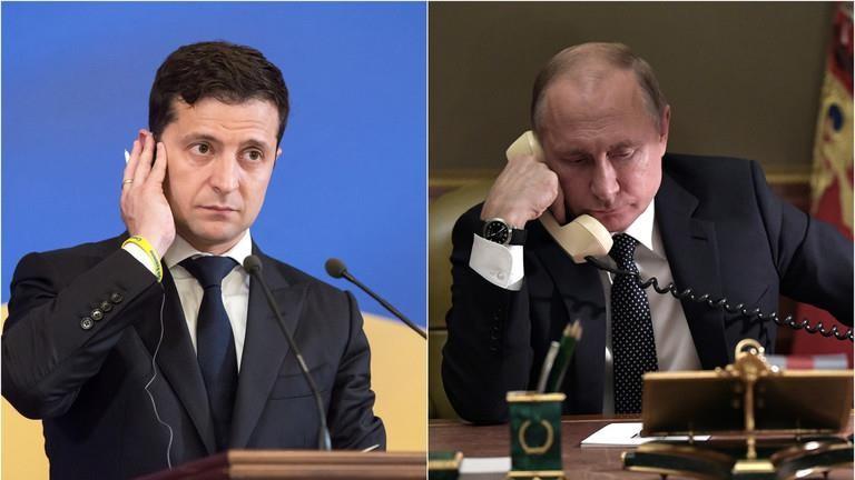 Ông Putin-Zelenskiy lần đầu điện đàm, bàn về xung đột Ukraine - ảnh 1