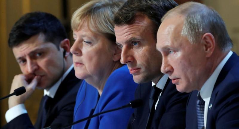 Bà Merkel nói gì với ông Putin sau đàm phán Bộ tứ Normandy? - ảnh 1