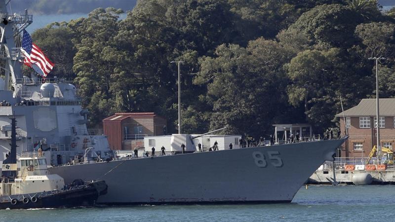 Tàu chiến Mỹ mang tên lửa dẫn đường đi qua eo biển Đài Loan - ảnh 1
