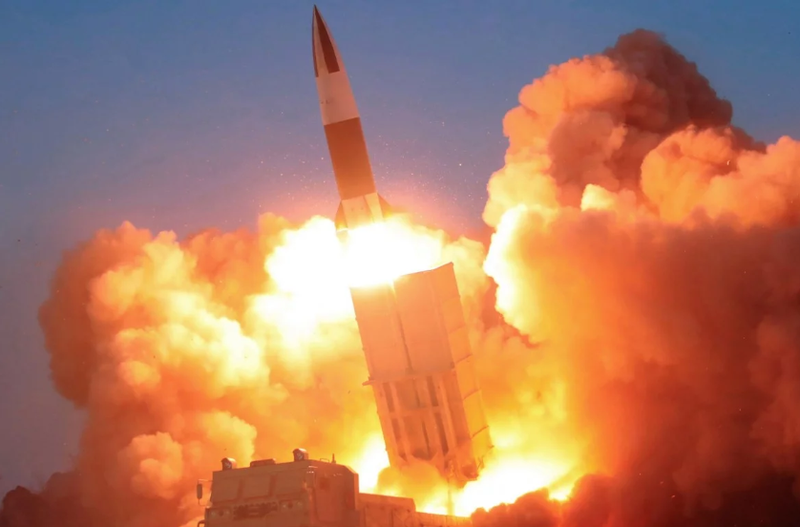 Nhật Bản: Triều Tiên phóng tên lửa đạn đạo - ảnh 1