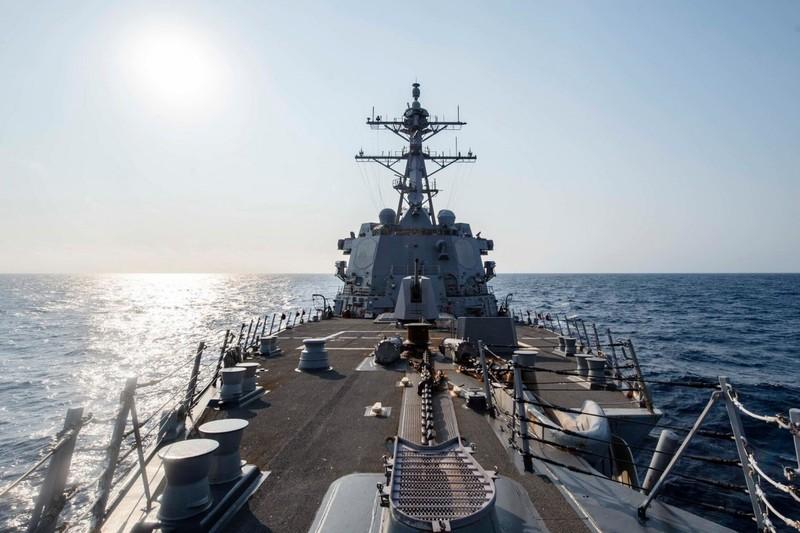 Tàu chiến Mỹ qua eo biển Đài Loan trước thềm bà Thái nhậm chức - ảnh 1