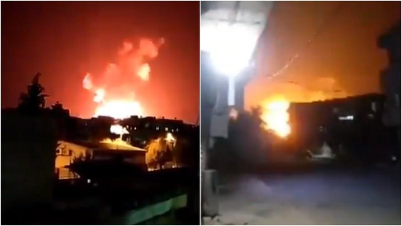 Nổ lớn khi nhiều căn cứ quân sự Syria bị Israel không kích - ảnh 1