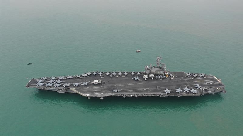 Tàu chiến Trung Quốc bám theo tàu Mỹ tập trận ở Biển Đông - ảnh 1
