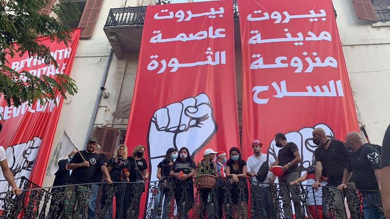 Lebanon: 10.000 người giận dữ chiếm hàng loạt trụ sở các bộ - ảnh 1