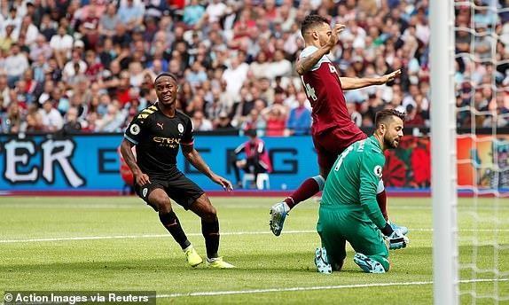 Sterling lập hat trick, Man. City thắng tưng bừng West Ham - ảnh 3