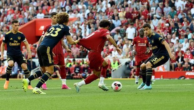Salah lập cú đúp, Liverpool 'vùi dập' Arsenal chiếm ngôi đầu - ảnh 4