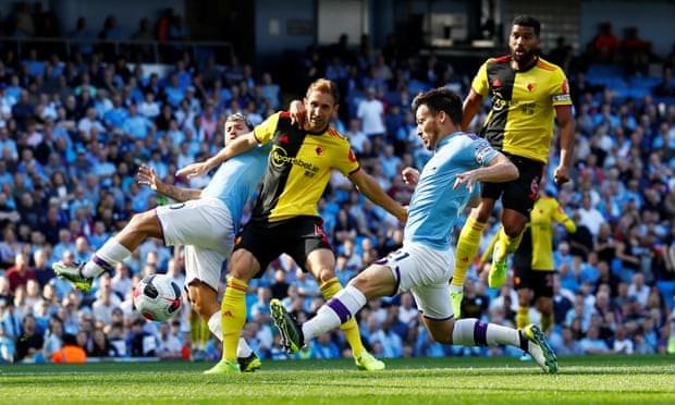 Ghi 5 bàn trong 18 phút đầu hiệp, Man. City 'hủy diệt' Watford - ảnh 1