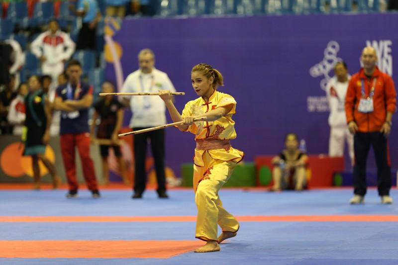 Võ gậy và Wushu tiếp tục 'gặt vàng' SEA Games 30 - ảnh 4