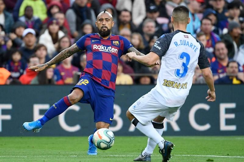 Trọng tài 2 lần từ chối bàn thắng, Barca vẫn thắng tưng bừng - ảnh 2