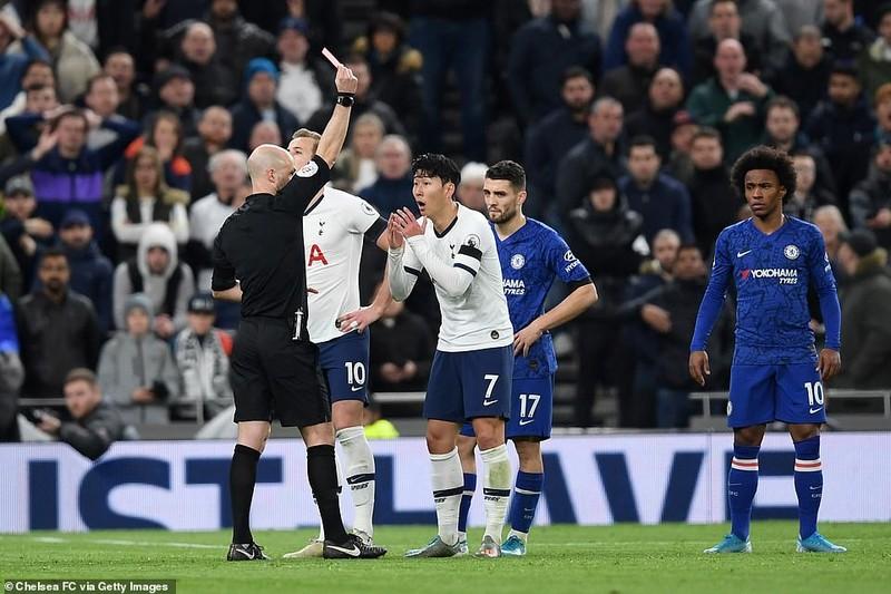Sao Hàn nhận thẻ đỏ, Tottenham thảm bại trước Chelsea - ảnh 7