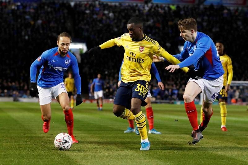 Thắng dễ đội hạng 3, Arsenal giành vé vào tứ kết FA Cup - ảnh 1