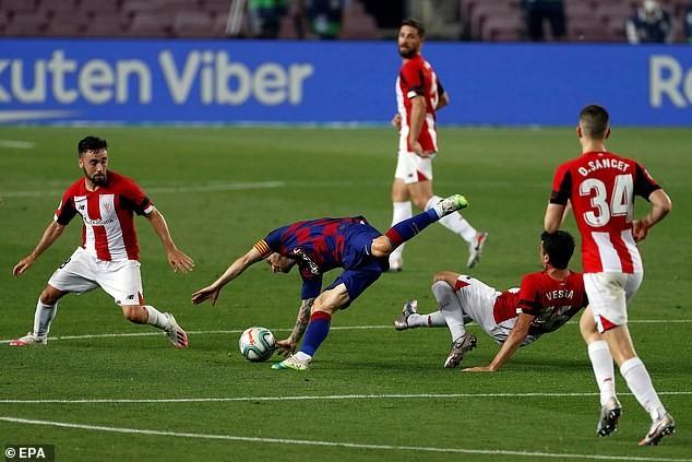 Thắng khó Athletic Bilbao, Barcelona tái chiếm ngôi đầu - ảnh 1