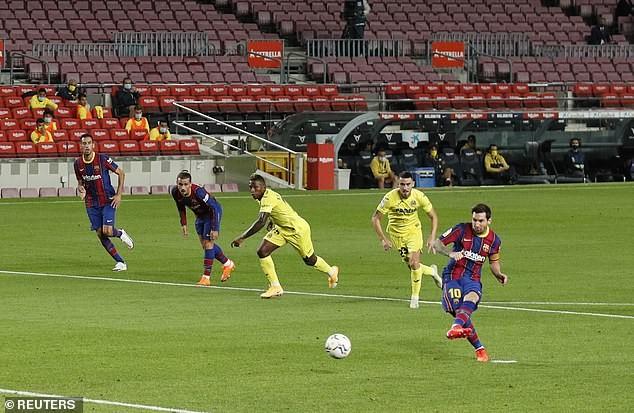 Sao trẻ lập cú đúp, Messi ghi bàn, Barca thắng lớn trận mở màn - ảnh 2