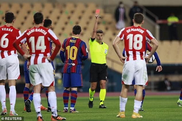 Messi nhận thẻ đỏ, Barca nhìn Bilbao lên ngôi vô địch - ảnh 5