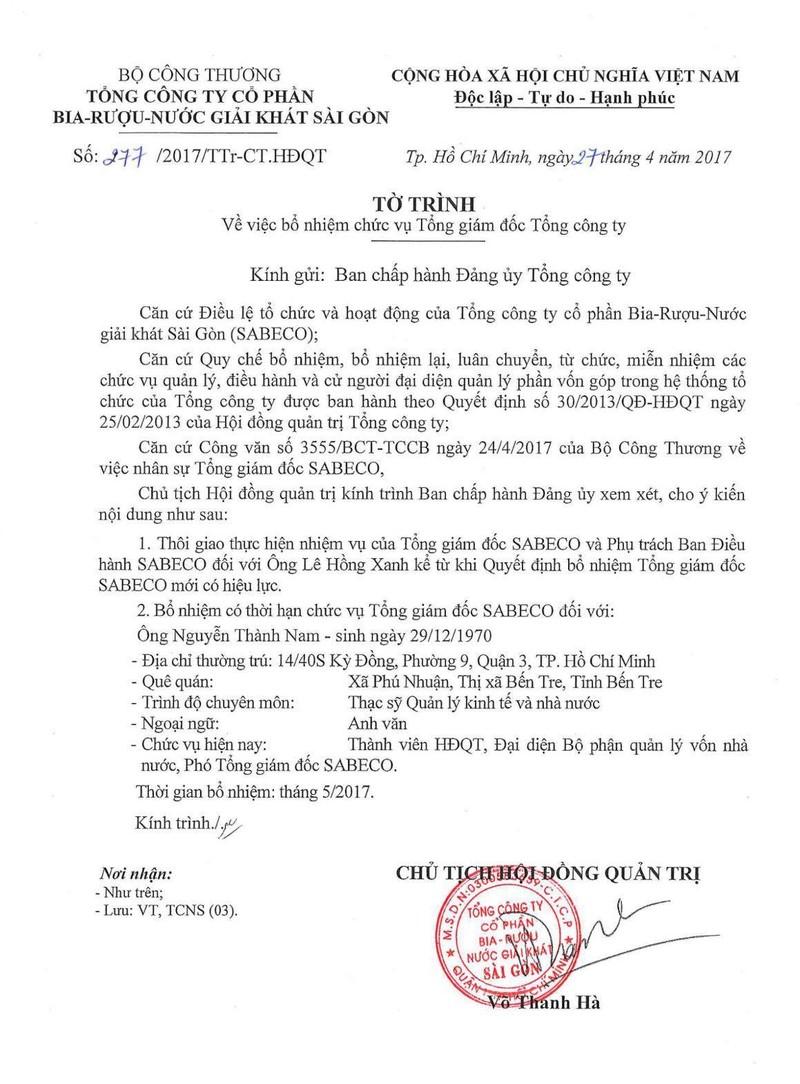 Lùm xùm nhân sự bia Sài Gòn: Bộ Công thương nói gì? - ảnh 2