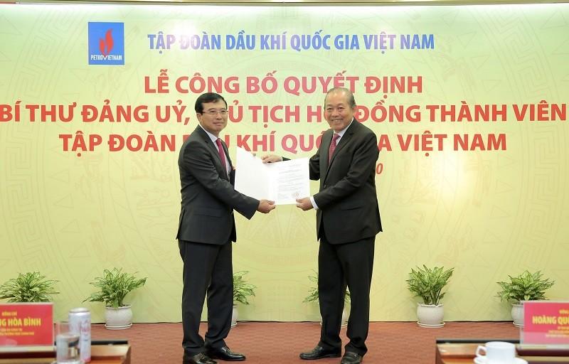 Phó Thủ tướng trao quyết định bổ nhiệm Chủ tịch PVN - ảnh 1