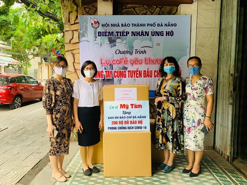 Ca sĩ Mỹ Tâm đồng hành chống dịch cùng báo chí Đà Nẵng - ảnh 1