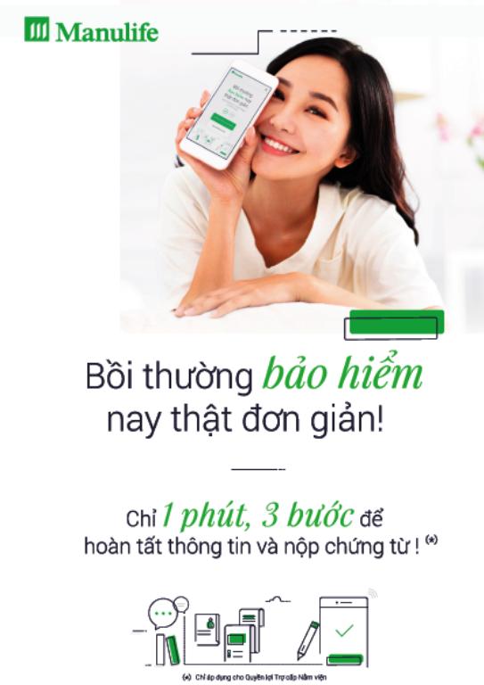 Manulife Việt Nam: Nộp yêu cầu bồi thường bảo hiểm chỉ 1 phút - ảnh 1