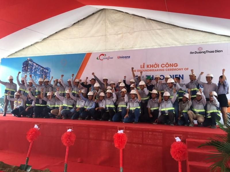 Unicons và Frasers Property khởi công dự án Q2 THAO DIEN - ảnh 1