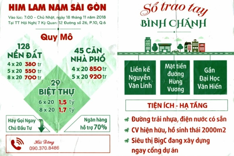 """Cảnh báo mạo danh mở bán dự án """"Him Lam Bình Chánh"""" - ảnh 2"""