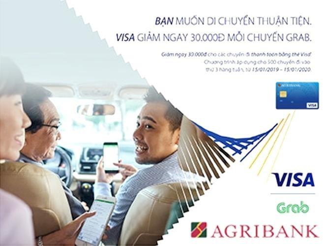 Agribank ưu đãi thứ Ba hàng tuần với thẻ Visa - ảnh 1