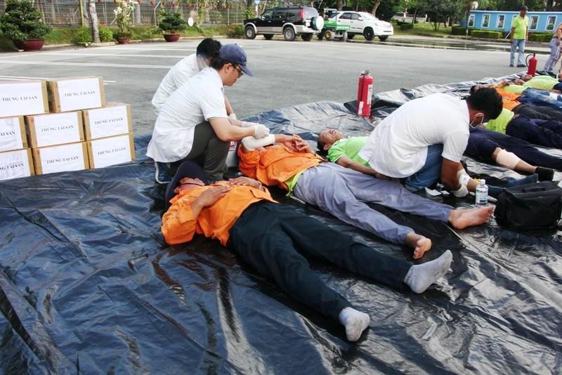 Diễn tập PCCC và cứu hộ cứu nạn tại bãi rác Đa Phước - ảnh 2