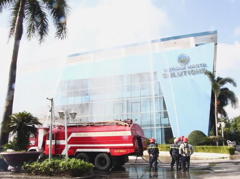 Diễn tập PCCC và cứu hộ cứu nạn tại bãi rác Đa Phước - ảnh 3